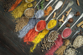 Spices on spoons with diagonal composition - PhotoDune Item for Sale