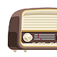 Old Vintage Flat Style Radio - GraphicRiver Item for Sale