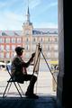 Senior Adult Working As Street Painter In Madrid - PhotoDune Item for Sale