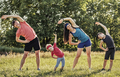 Active healthy family working out together - PhotoDune Item for Sale