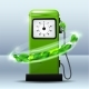 Green Bright Gas Station Pump with Fuel Nozzle - GraphicRiver Item for Sale