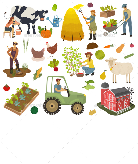 Farmers do Agricultural Work