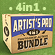 4-in-1 Artist's Pro Photoshop Action Bundle - GraphicRiver Item for Sale
