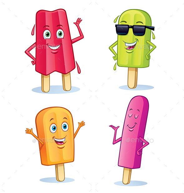 Fun Frozen Fruit Pop Treat Characters