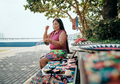 Indigenous People Crafting Souvenirs For Sale - PhotoDune Item for Sale