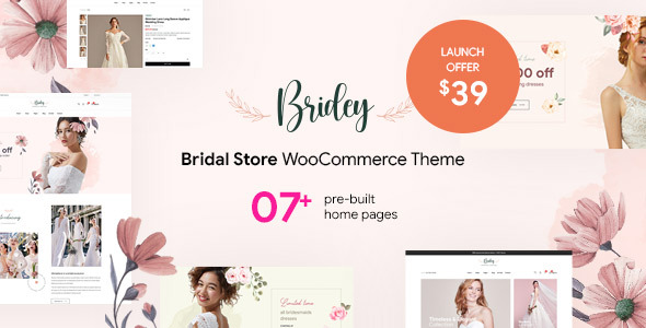 Bridey – Bridal Store WooCommerce WordPress Theme Preview