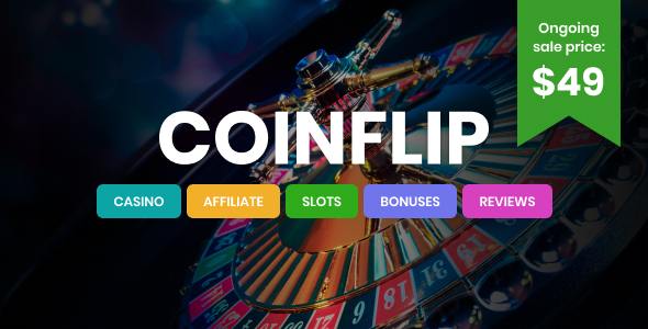 Coinflip – Casino Affiliate & Gambling WordPress Theme Preview