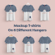 Front and Back T-shirts Mockups   With 6 Different Hangers - GraphicRiver Item for Sale