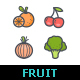 50 Fruit & Vegetable Color Icons - GraphicRiver Item for Sale