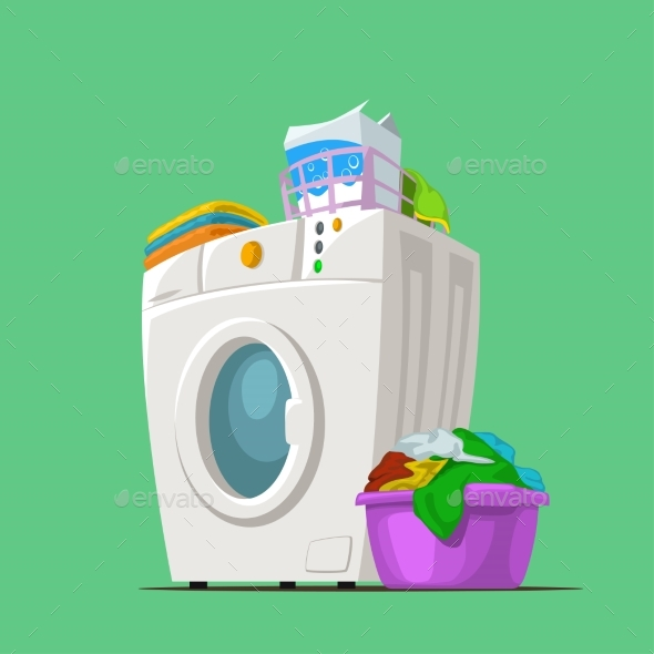 Wash Machine on Green