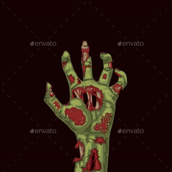 Zombie Green Hand