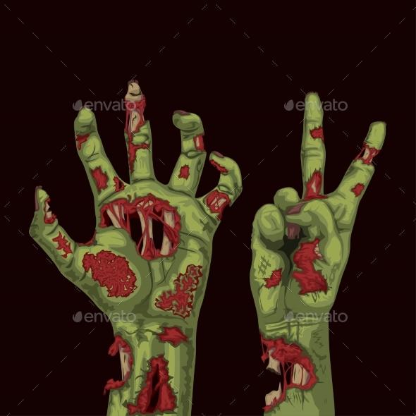 Different Zombie Hands