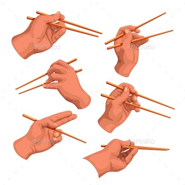 Hand Chopsticks Set