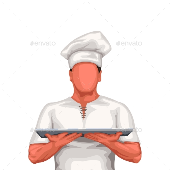 Chef Holds Tray