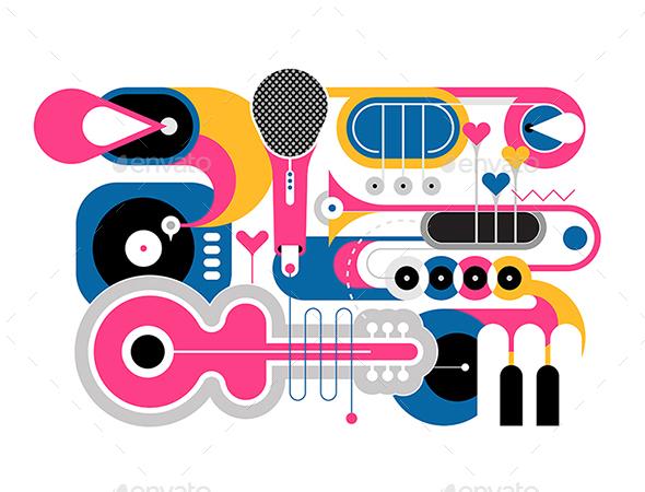 Musical Instruments Flat Design