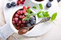Chocolate dessert with berries - PhotoDune Item for Sale