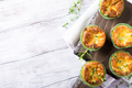 Savory cheddar cheese and leek mini quiches - PhotoDune Item for Sale