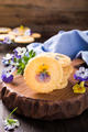 Homemade shortbread cookies with edible flowers - PhotoDune Item for Sale