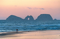 Twilight Silhouettes on a Ocean Beach - PhotoDune Item for Sale