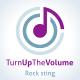 Turn Up The Volume! Rock Logo