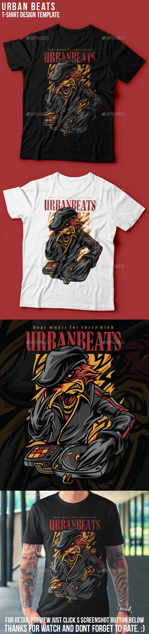 Urban Beats T-Shirt Design