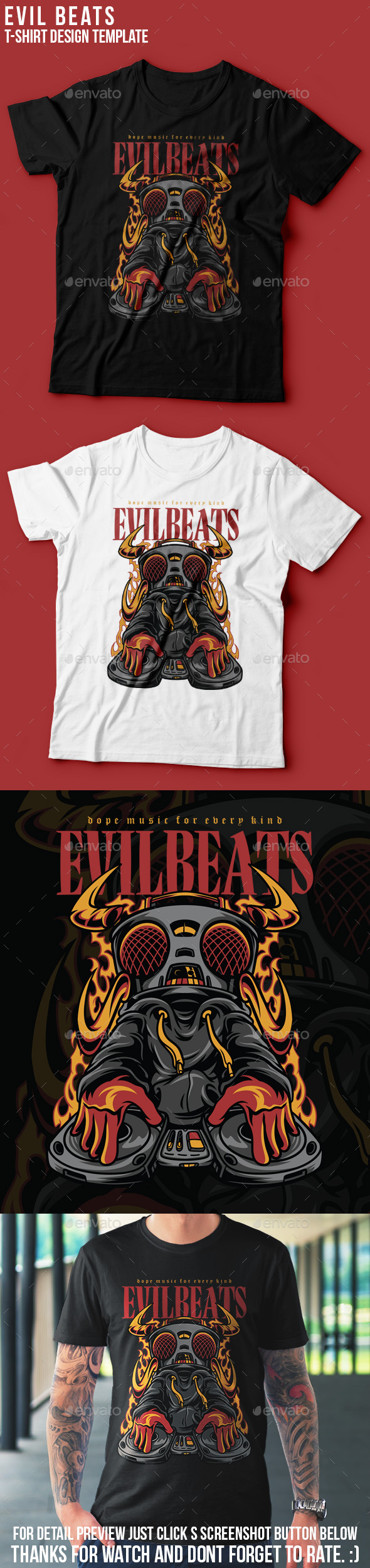 Evil Beats T-Shirt Design