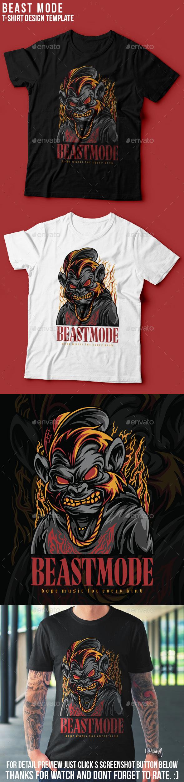 Beast Mode T-Shirt Design