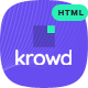 Krowd - Crowdfunding Projects & Charity HTML Template - ThemeForest Item for Sale