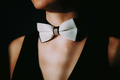 Closeup of a woman with bow tie. - PhotoDune Item for Sale