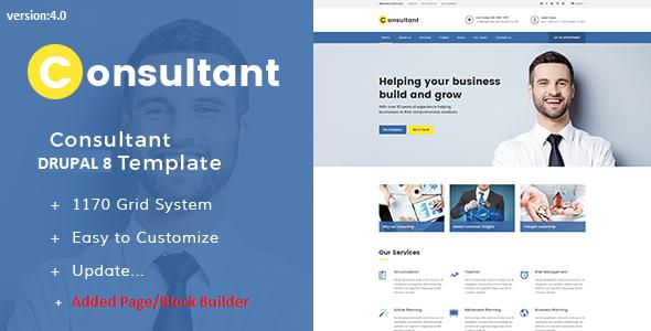 Consultant - Multipurpose Corporate Drupal 9 Template