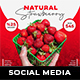 Fruit Social Media Templates - GraphicRiver Item for Sale