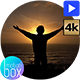 Silhouette of a man raising his arms against the sunset - VideoHive Item for Sale