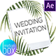 Tropical Wedding Invitation - VideoHive Item for Sale