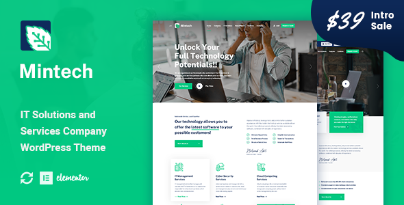 Mintech – IT Solutions & Services WordPress Theme Preview