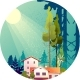 Forest Hut Among the Trees - GraphicRiver Item for Sale