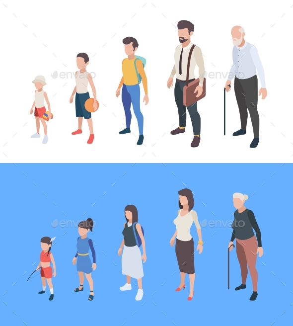 Generations Persons Male and Female Characters