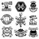 Set of Car Repair Workshop Emblems - GraphicRiver Item for Sale
