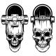 Illustration of Skateboard with Skull - GraphicRiver Item for Sale
