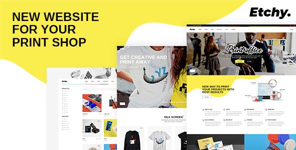 Etchy – Print Shop WordPress Theme Preview