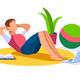 Active Boy Vector Illustration Stretching - GraphicRiver Item for Sale