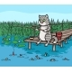 Cat Fishing on the Pier - GraphicRiver Item for Sale