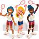 Badminton Team Winning Medal - GraphicRiver Item for Sale