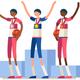 Basketball Athletes Gold Medal Podium - GraphicRiver Item for Sale