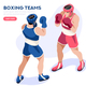Boxers Boxing Athletes Combat Match - GraphicRiver Item for Sale