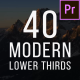 40 Modern Lower Thirds - VideoHive Item for Sale