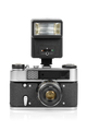 Vintage analog camera with manual flash light - PhotoDune Item for Sale