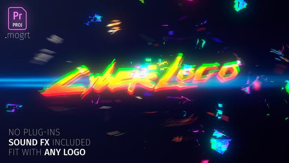 Glitch Cyber Logo Mogrt