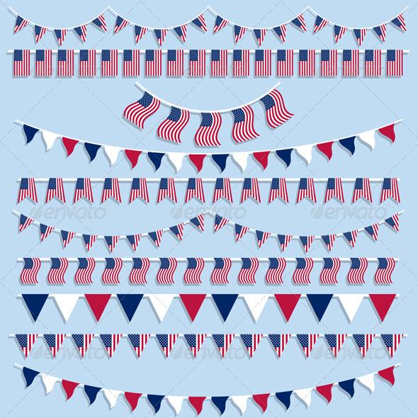 American flag bunting