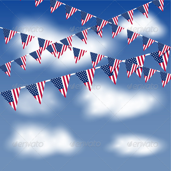 Bunting in the sky