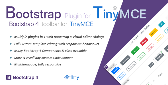 Bootstrap Plugin for TinyMCEPrice : $27